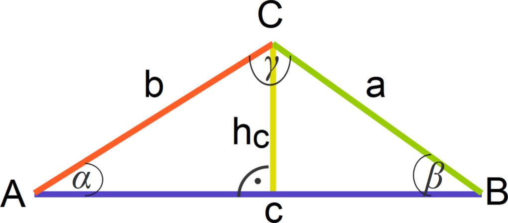 Höhe im Dreieck