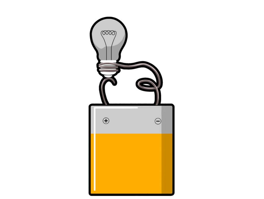 Lämpchen an Batterie