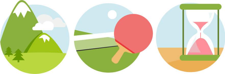 Das lineare, das Ping-Pong- und das Sanduhr-Prinzip