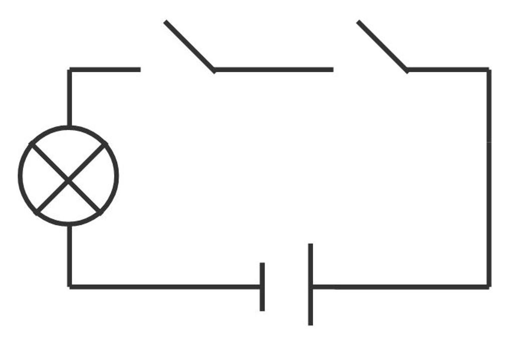 Reihenschaltung von Schaltern: UND-Schaltung