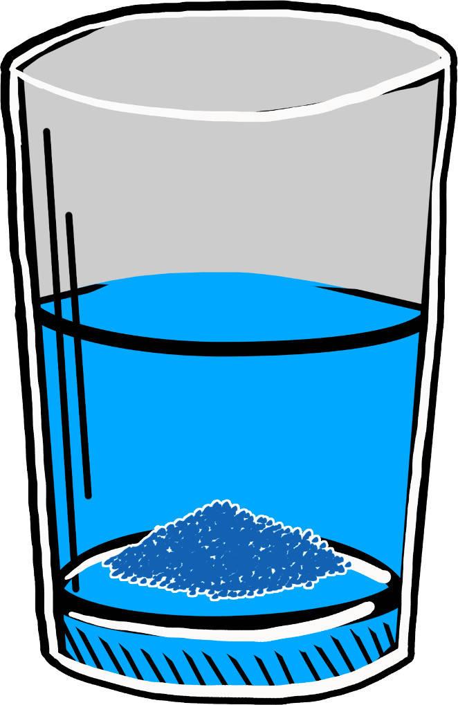 Salze: Lösung mit Bodensatz
