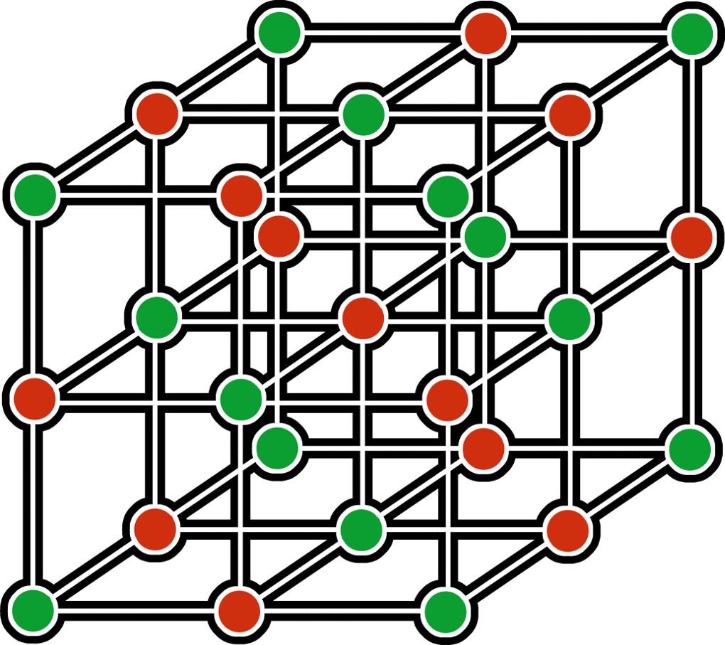 Salze: Ionengitter, Gitterstruktur