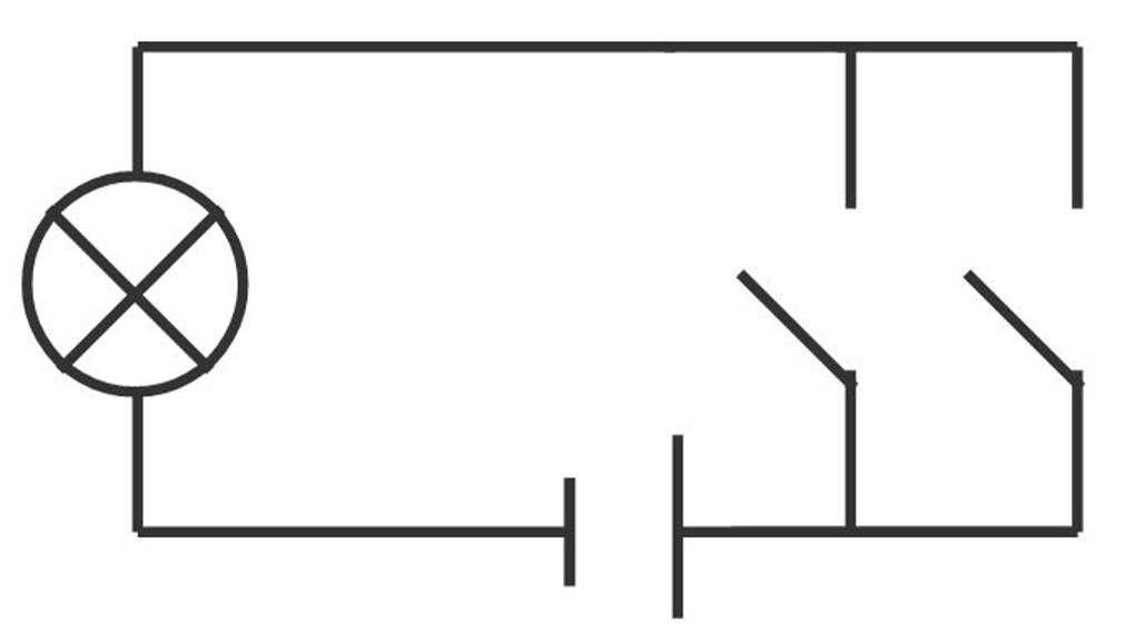 Parallelschaltung von Schaltern: ODER-Schaltung