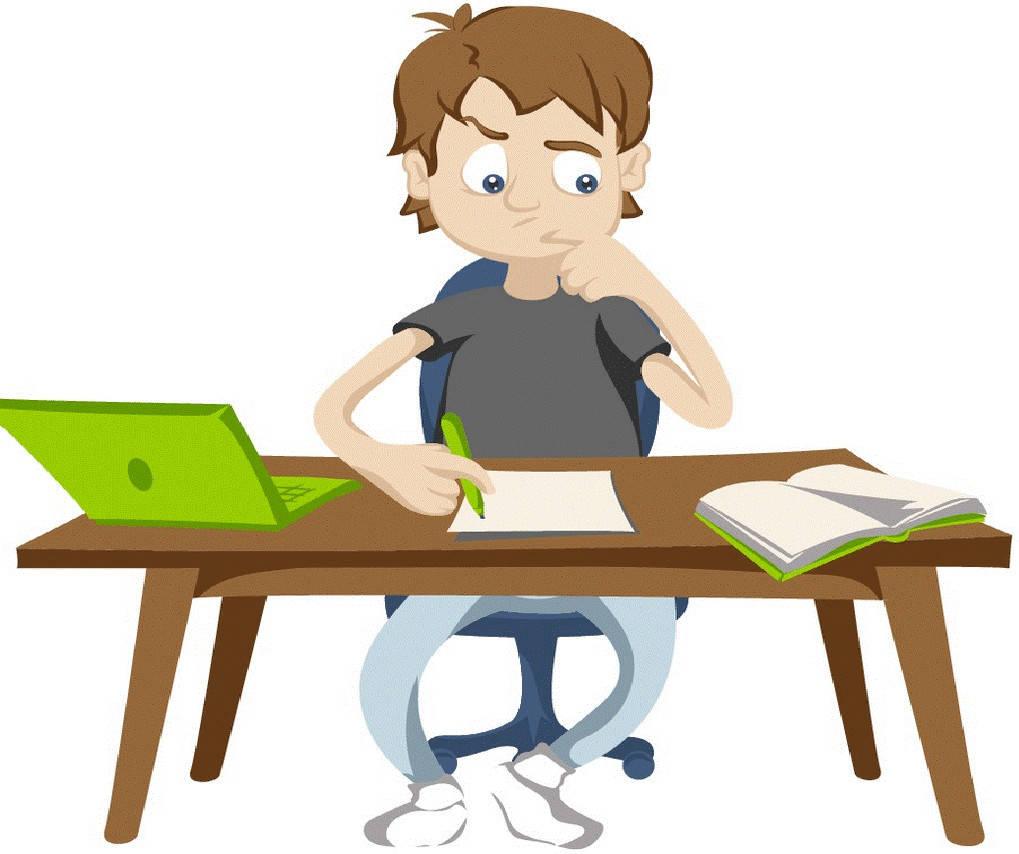 Am Schreibtisch lernen