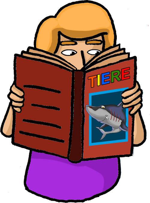 Das Mädchen liest