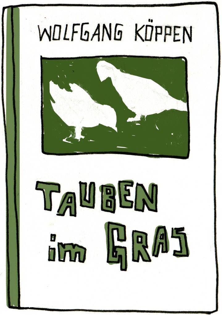 Tauben im Gras