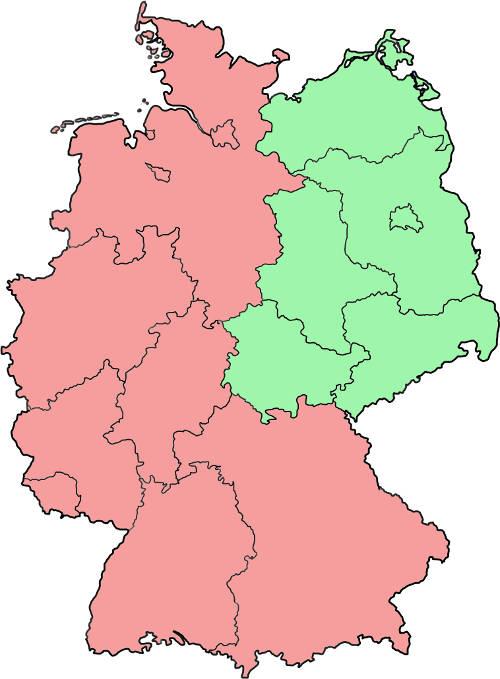 Ost- und Westdeutschland