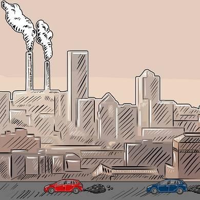 Mensch produziert Treibhausgas