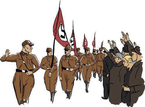 Naziaufmarsch