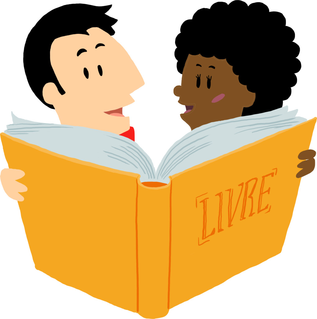 Paul und Chloé lesen ein Buch