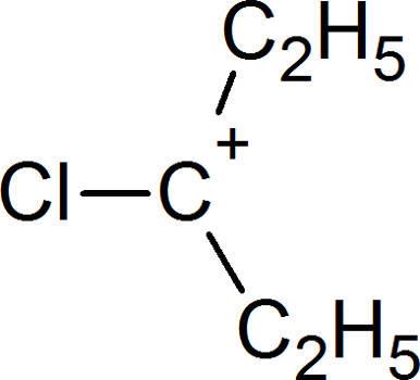 Reaktionsmechanismen der Kohlenwasserstoffe: tertiäres Carbokation