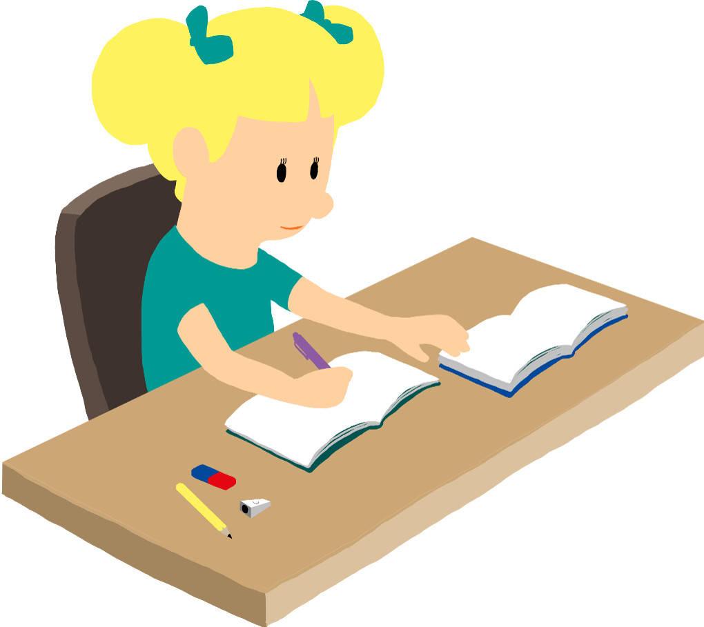 Mädchen macht Hausaufgaben