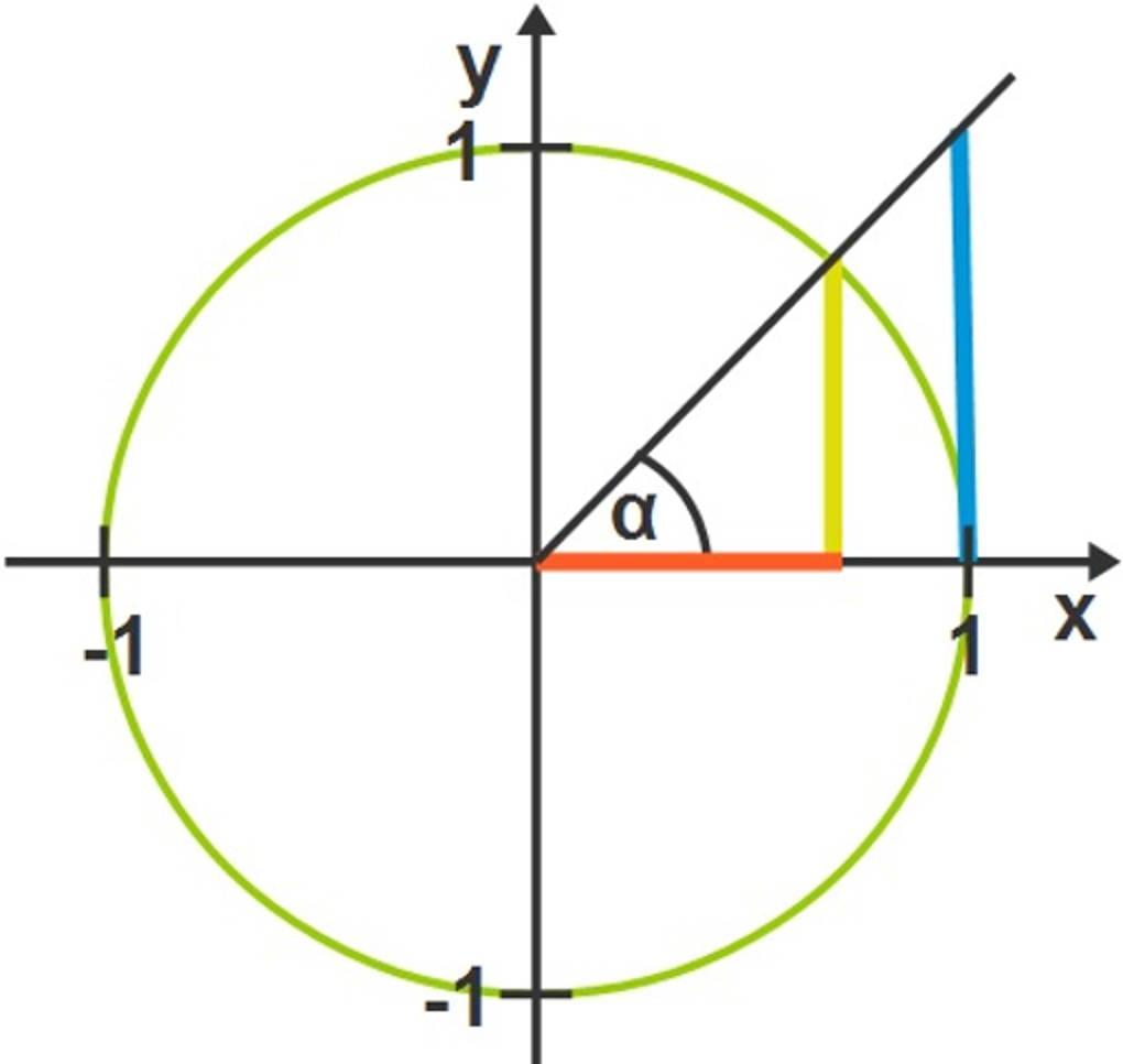 Die trigonometrischen Funktionen am Einheitskreis