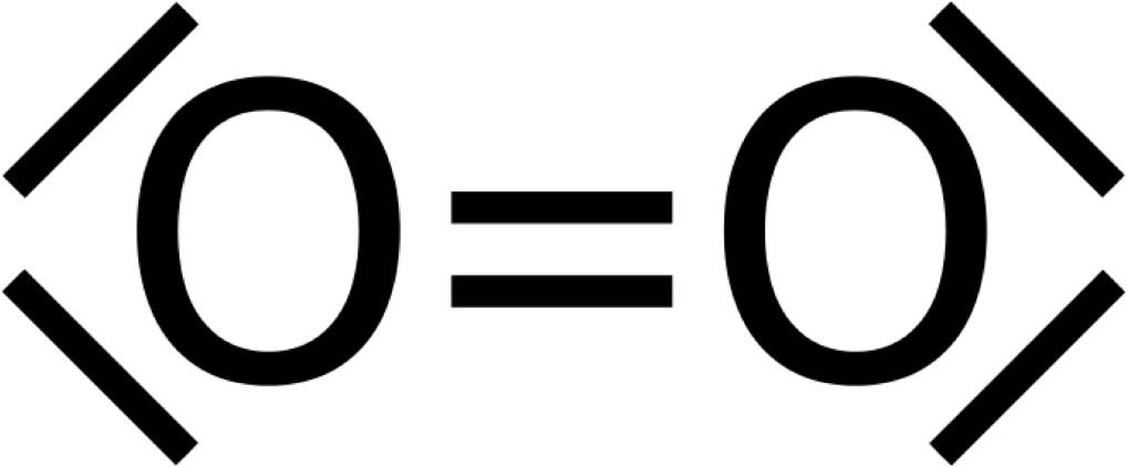 Sauerstoffmolekül Valenzstrichformel