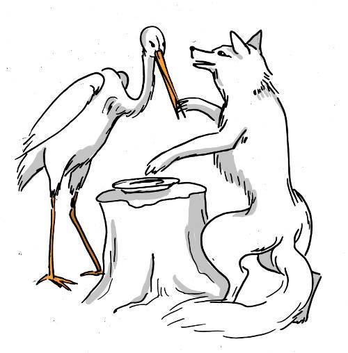 Der Fuchs und der Storch