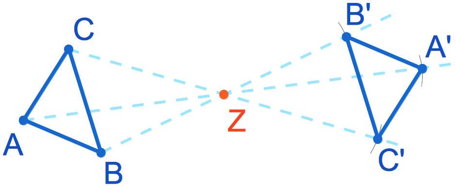 Punktspiegelung eines Dreiecks