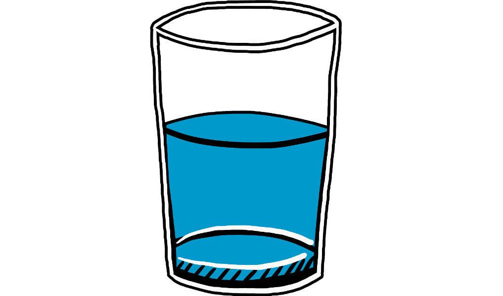 Stoffgemisch: Glas mit Lösung