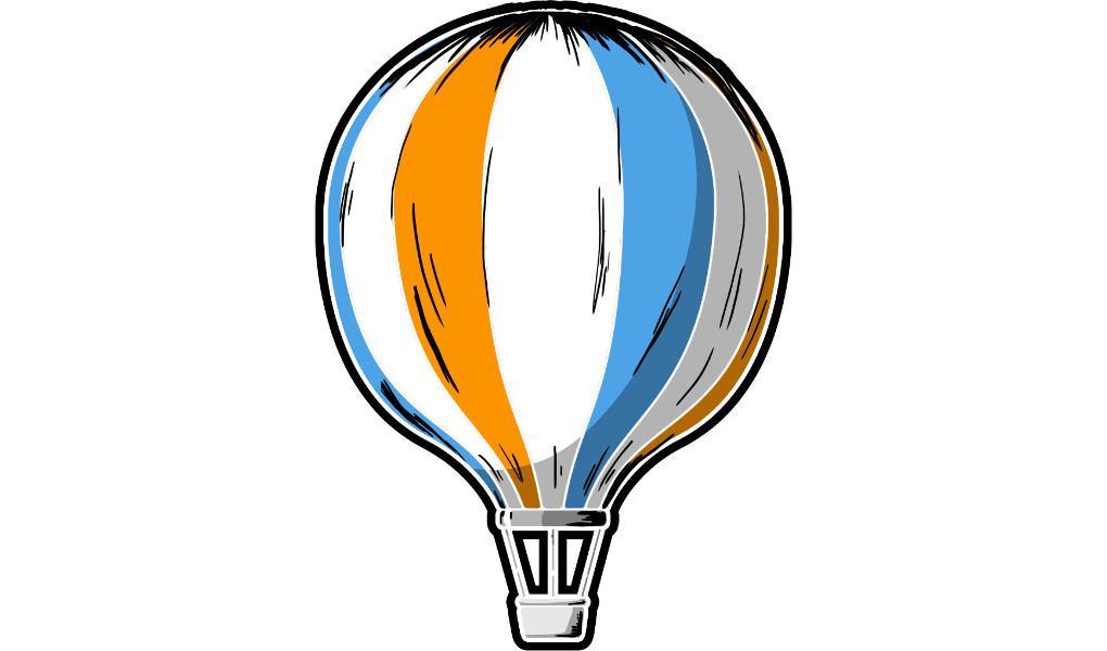 Wasser und Wasserstoff: Heißluftballon