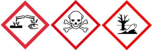 Gefahrensymbole von Ammoniak