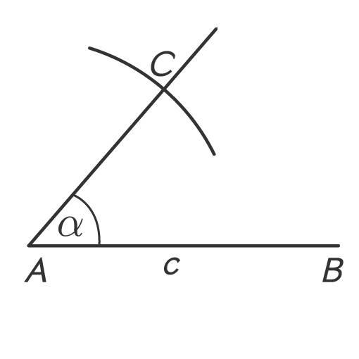 Kreisbogen um A