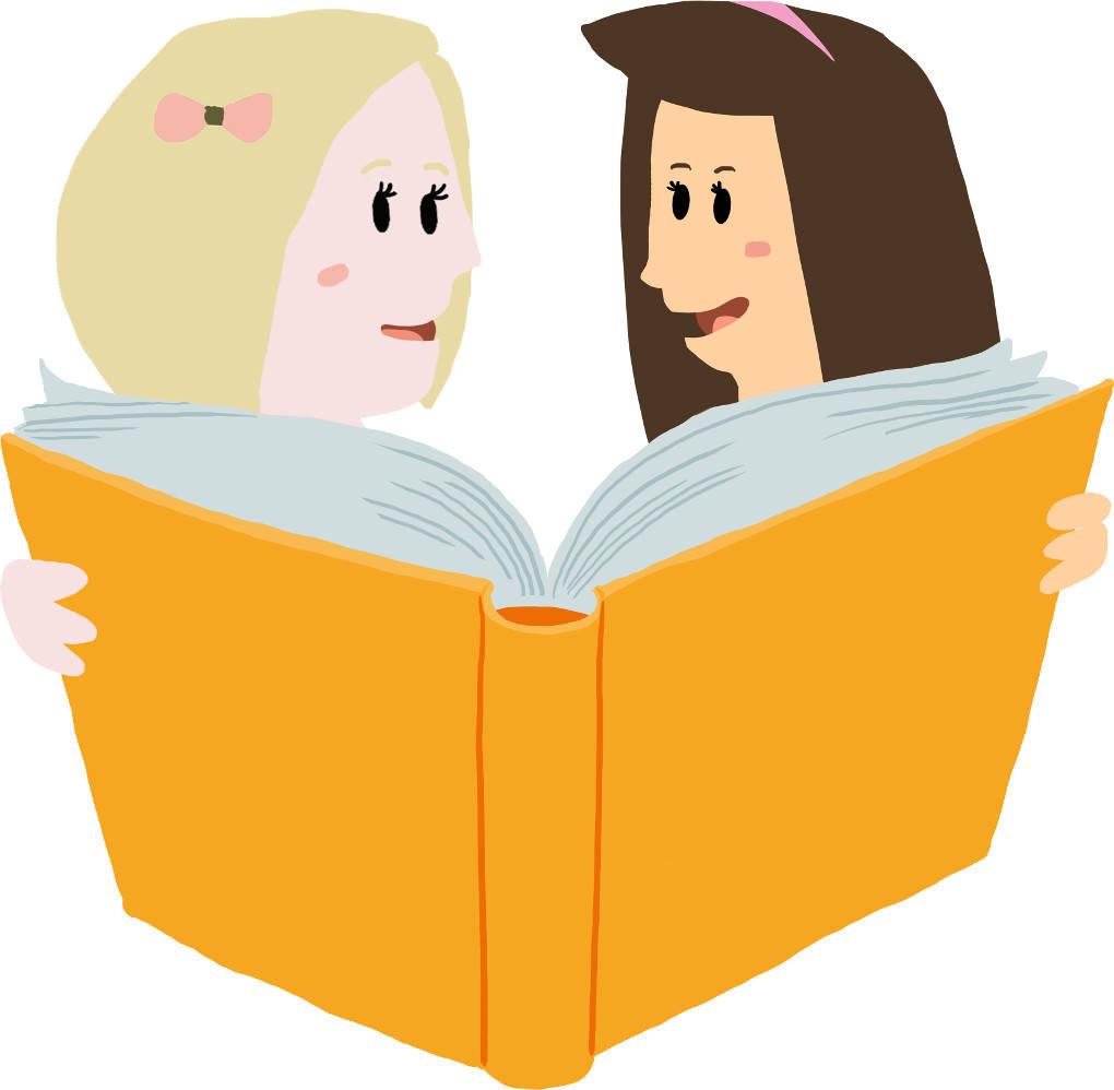 2 Mädchen lesen