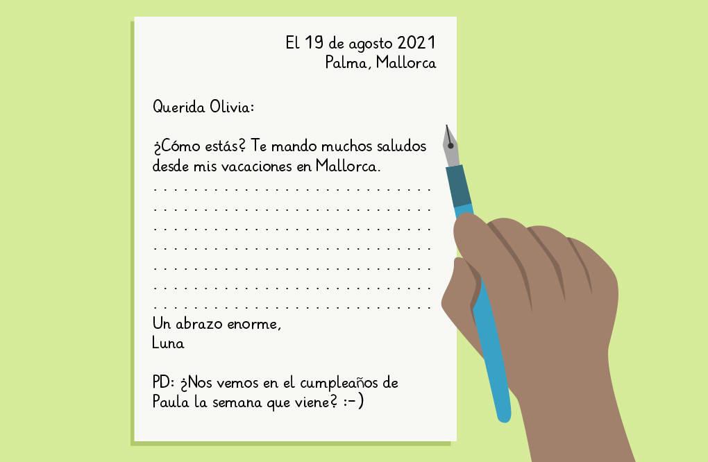 Aufbau spanischer Brief