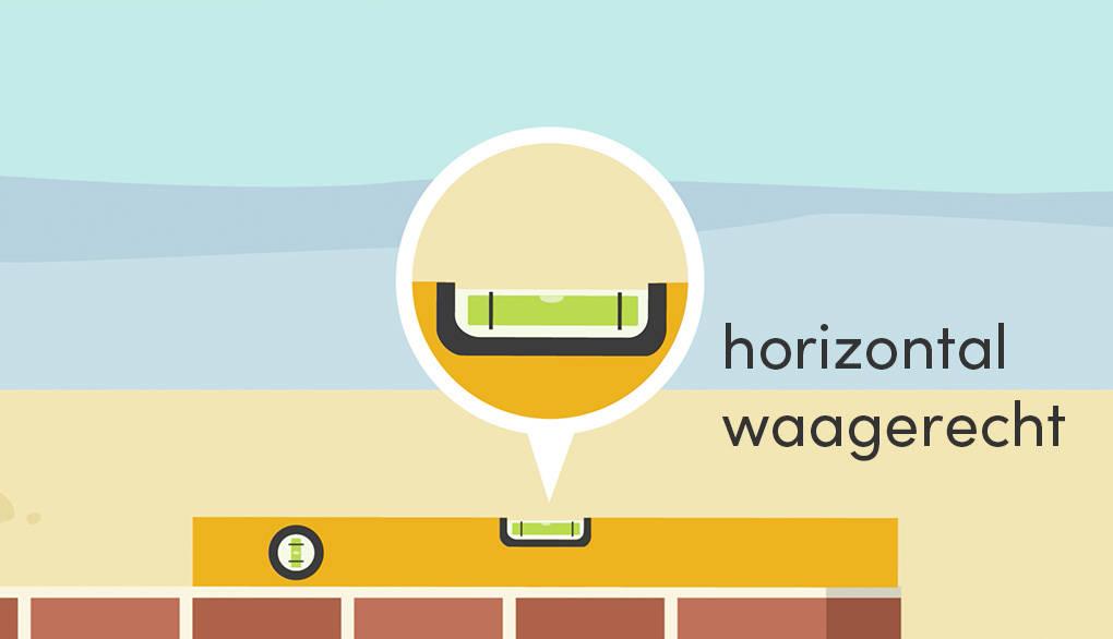horizontal waagerecht Wasserwaage