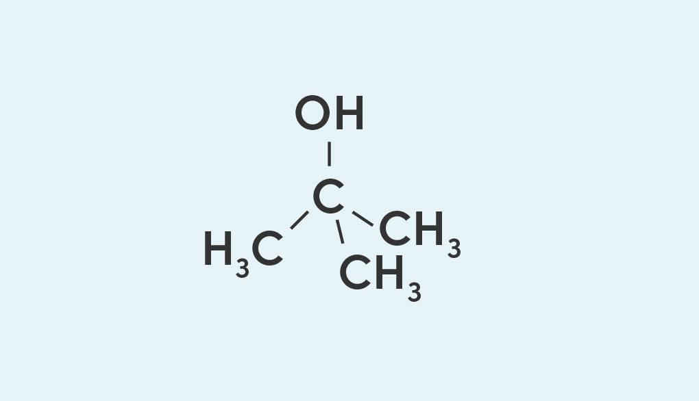 Strukturformel von tert-Butanol