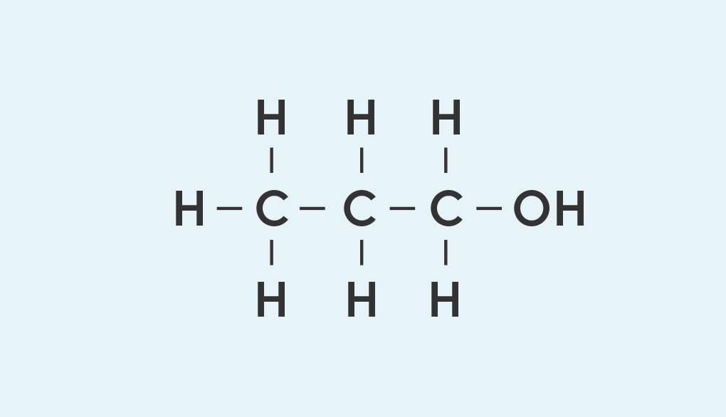 Strukturformel von 1-Propanol