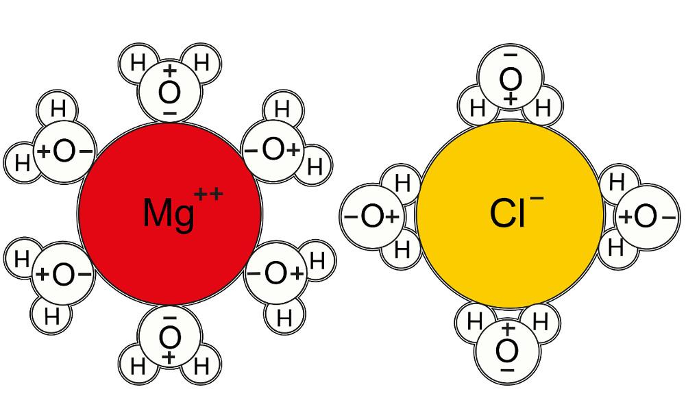 Wasser und Wasserstoff: Hydratation Anion & Kation