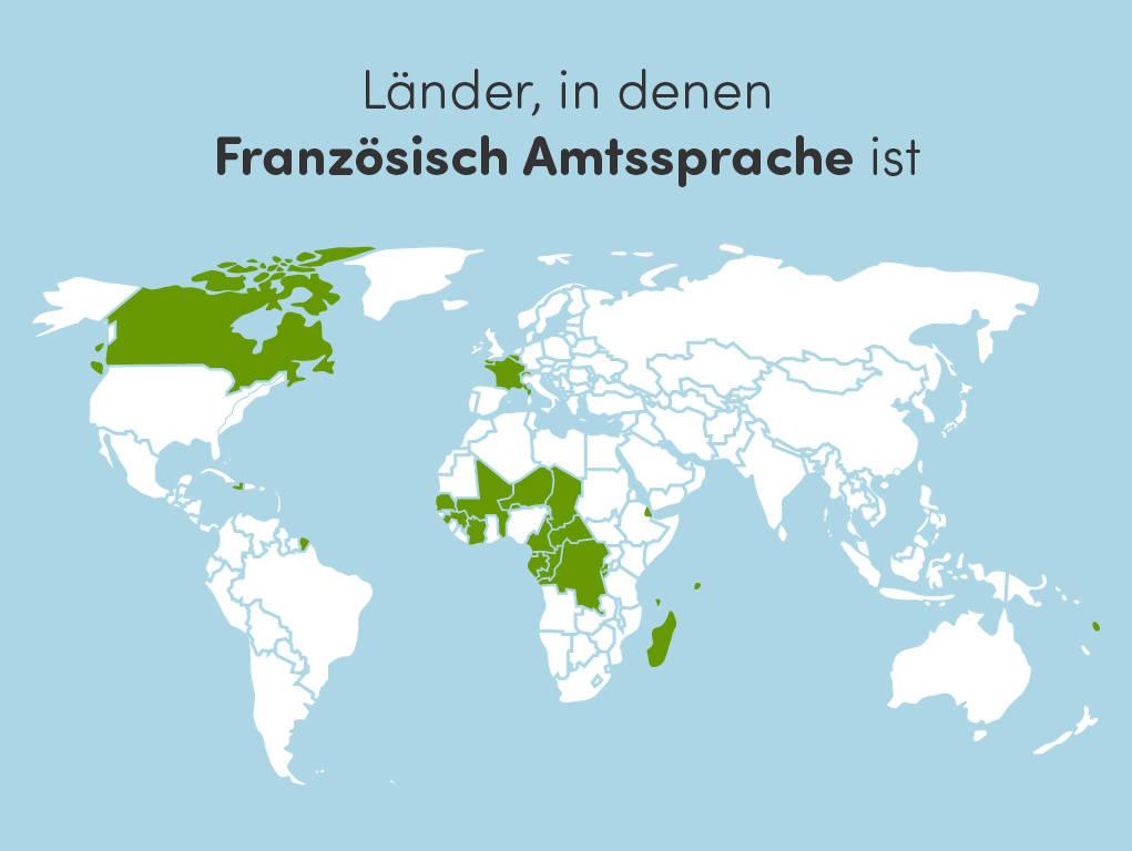 Frankophonie: Wo ist Franzoesisch Amtssprache?