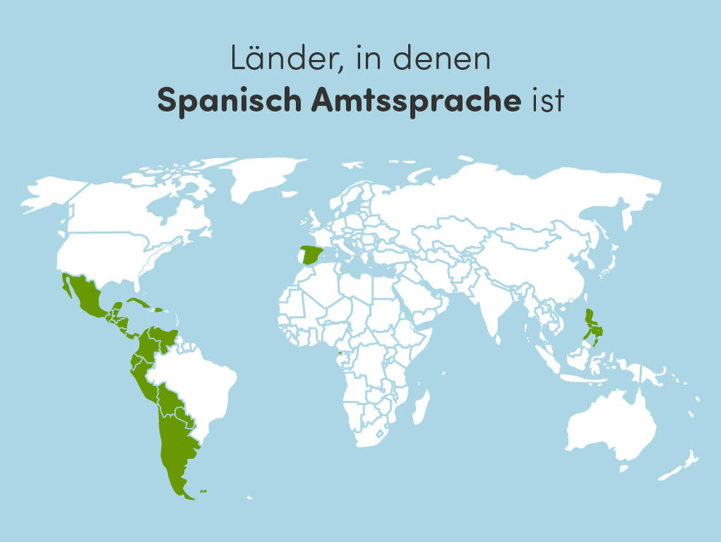 Spanischsprachige Laender weltweit: Ueberblick