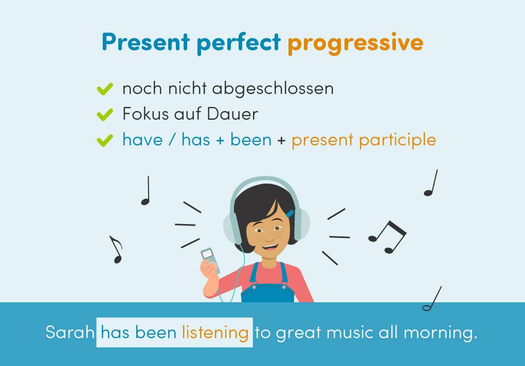 Present perfect progressive Verwendung Bildung