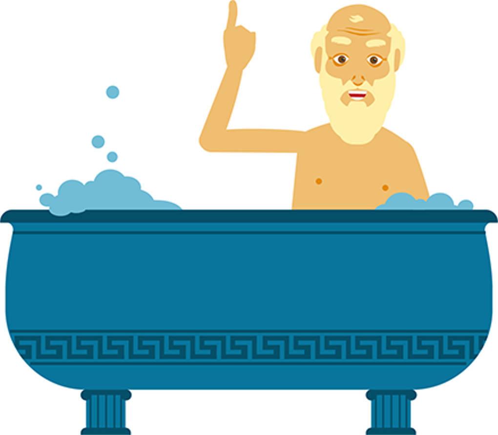 Archimedis in der Badewanne