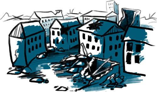 Nachkriegszeit - eine Stadt in Trümmern
