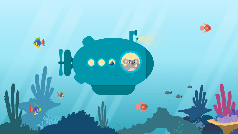 Ben und Lina in einem U-Boot