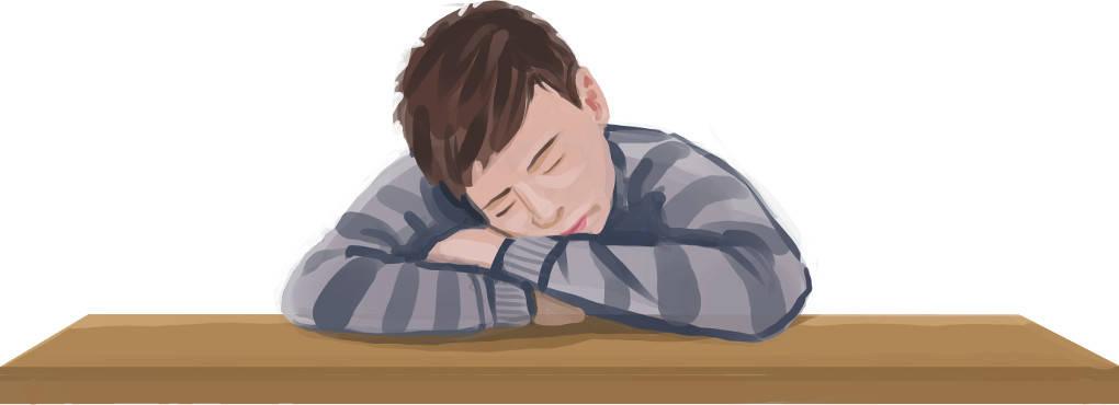 Der Junge schläft