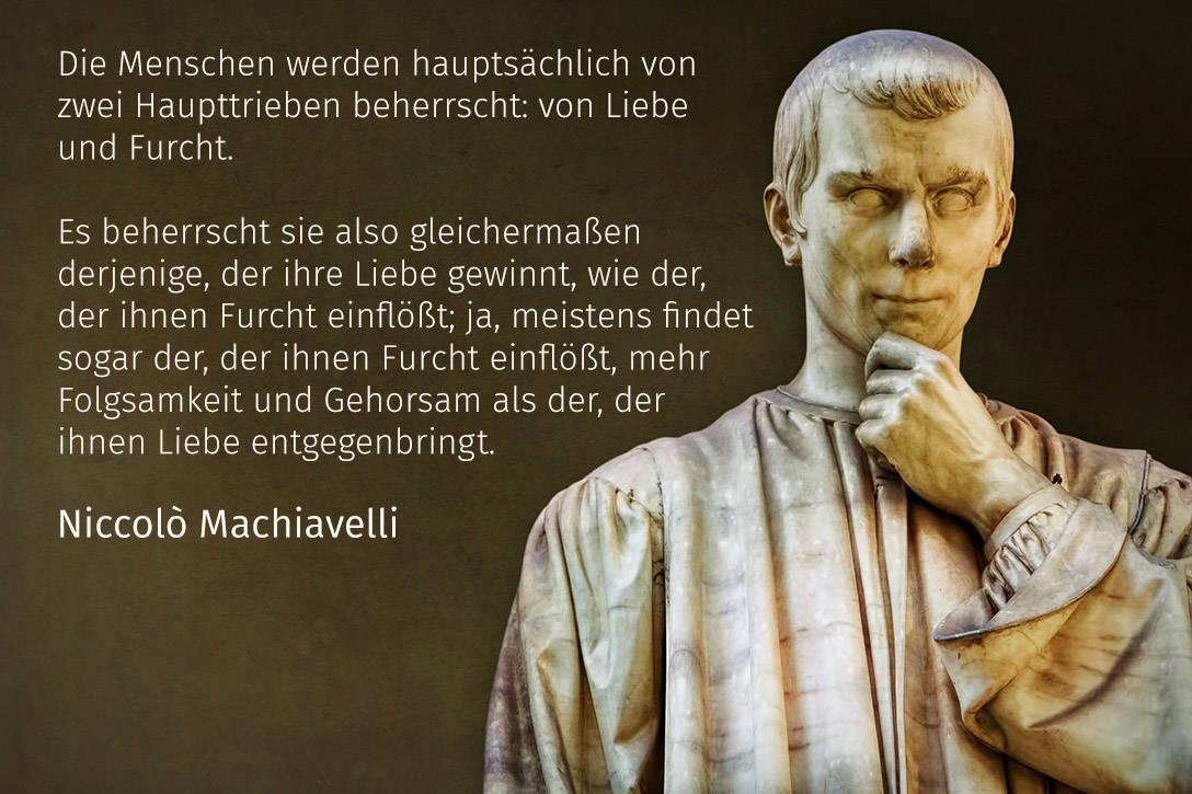 Niccolo Machiavelli Zitat