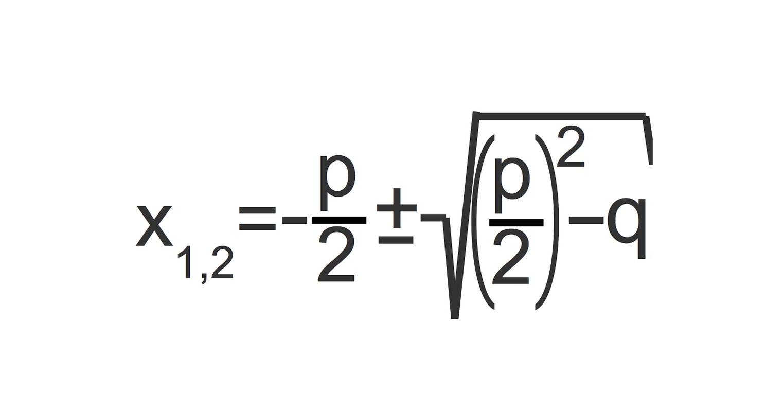 pq-Formel für quadratische Gleichungen (Übungen & Arbeitsblätter)
