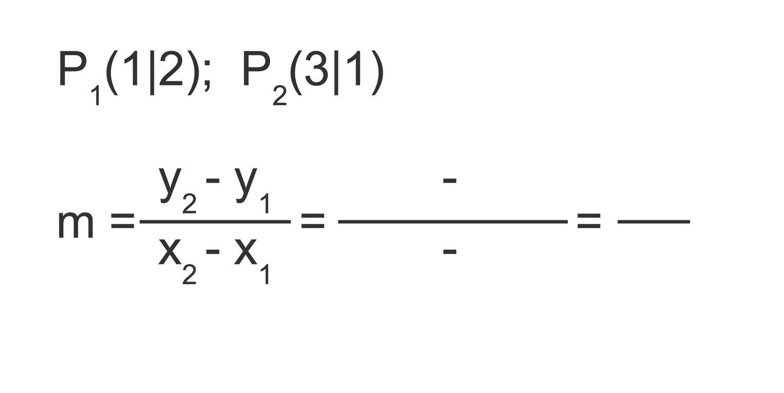 y-Achsenabschnitt einer linearen Funktion aus zwei Punkten bestimmen ...