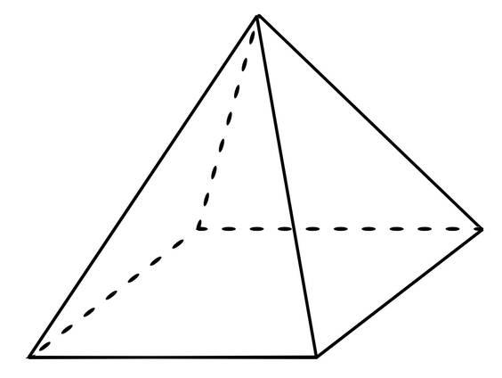 Schrägbild einer geraden Pyramide (Übungen & Arbeitsblätter)