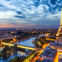 Sky evening france eiffel tower paris from above 520603 1280x853
