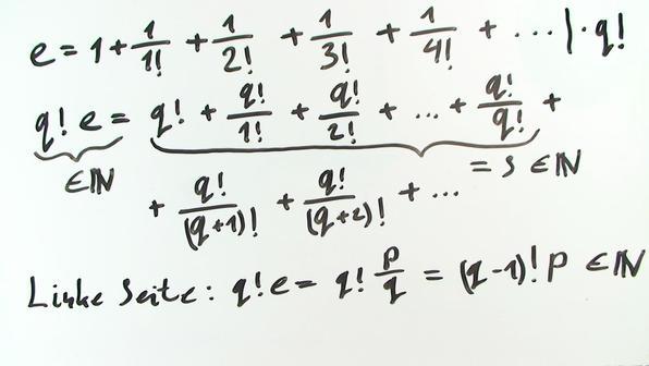 Irrationalität der Eulerschen Zahl e