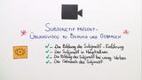 Subjonctif Présent – Bildung und Gebrauch (Übungsvideo)
