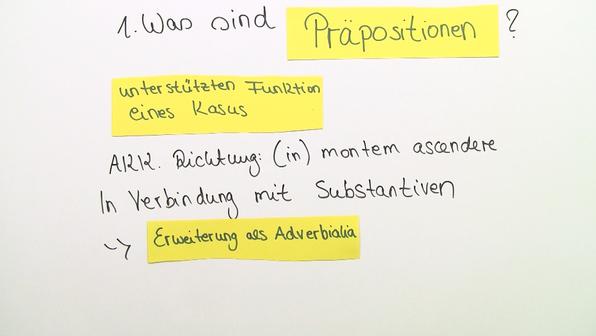 Praepositionen mit ablativ