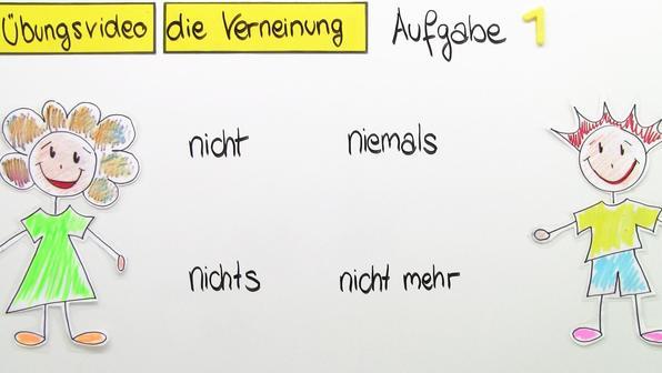 Verneinung (Übungsvideo)