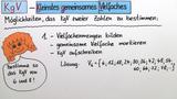 Kleinstes gemeinsames Vielfaches (kgV) – Einführung