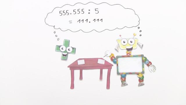Schriftliche Division durch einstellige Zahlen (Übungsvideo)