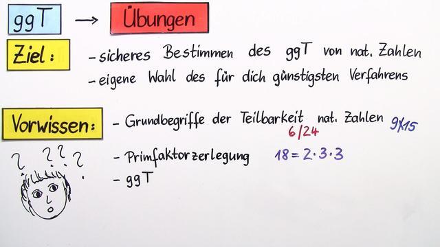 Größter gemeinsamer Teiler (ggT) (Übungsvideo) – Mathematik online ...