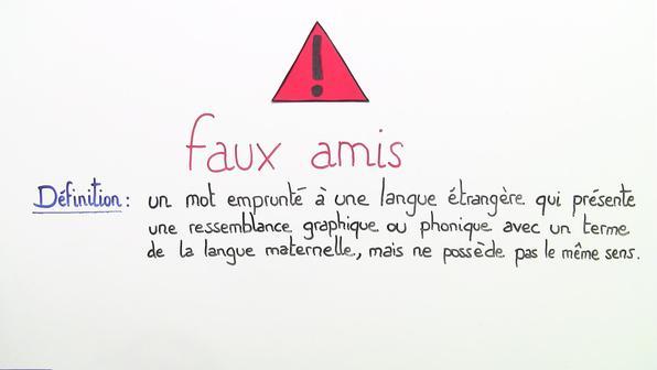 Falsche Freunde: Englisch-Französisch – Faux amis: anglais-français (1)